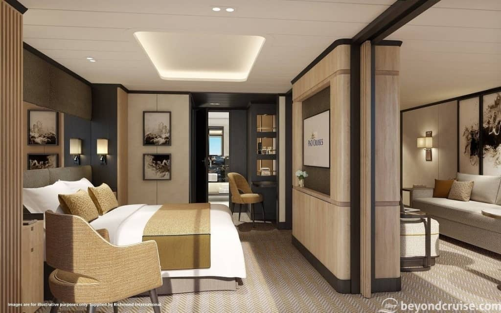 Aft Suite Bedroom, P&O Iona
