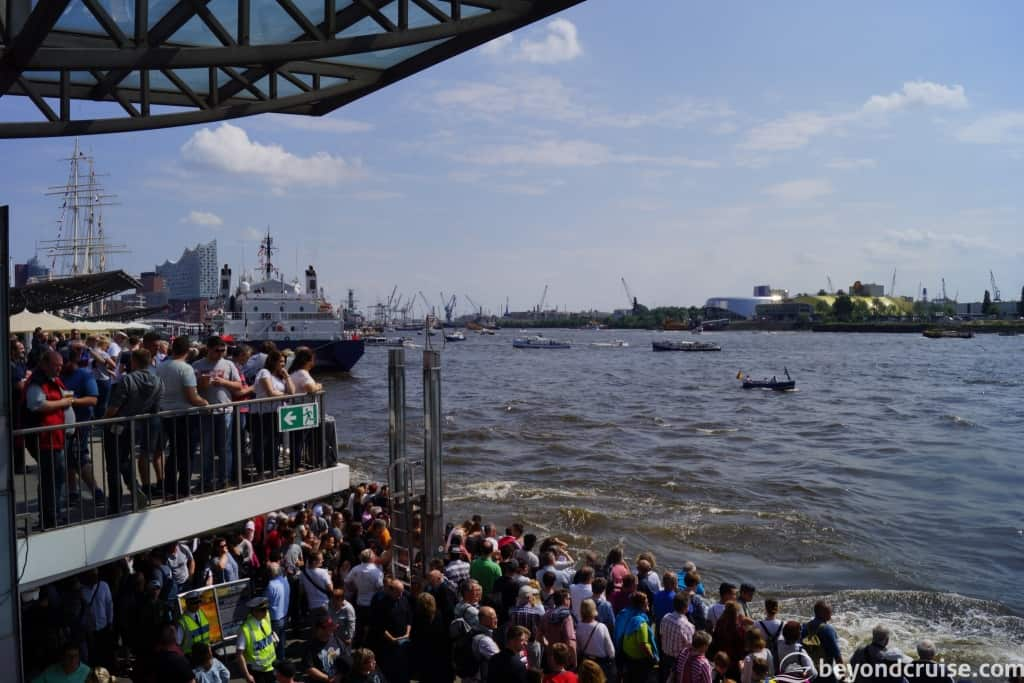 Port of Hamburg 829th Anniversary - Crowds on Elbe Promenade