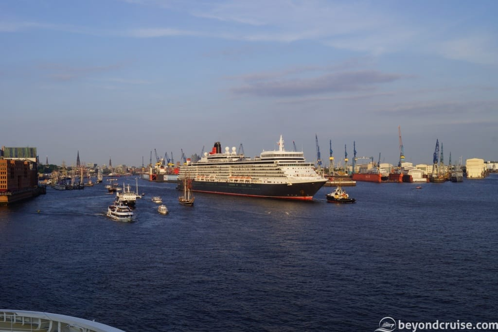 Port of Hamburg 829th Anniversary Queen Elizabeth departure