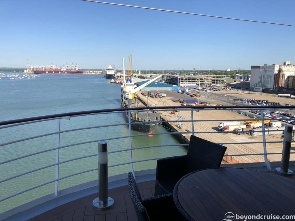 Port of Southampton as seen from the terrace on MSC Magnifica