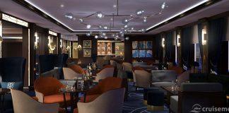 Queen Victoria refurbishment 2017: Chart Room at night