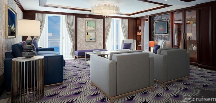 Queen Victoria refurbishment 2017: Queens Grill Suite Lounge