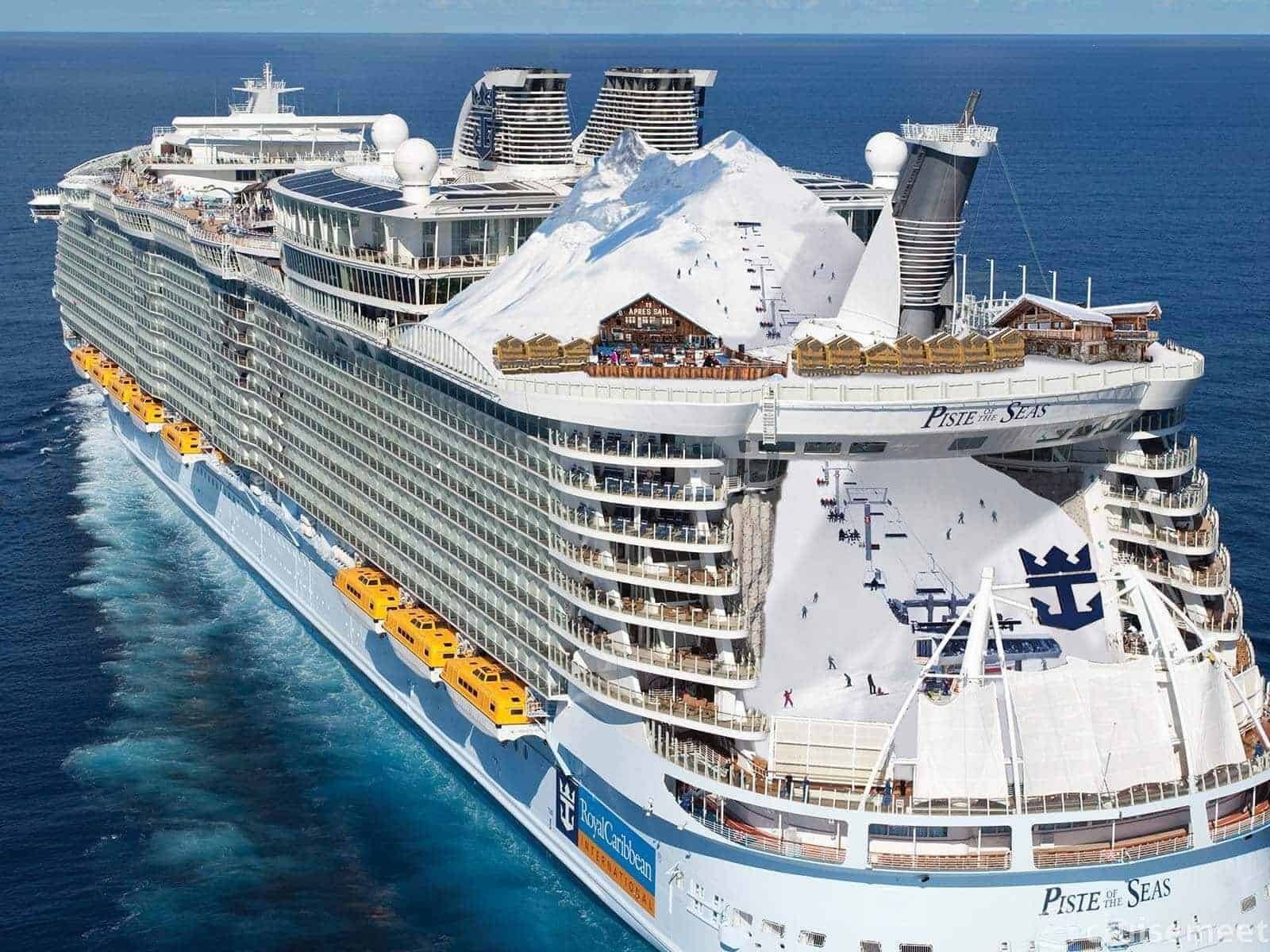 World S First Ski Resort At Sea Piste Of The Seas From