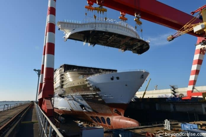 Symphony of the Seas in St. Nazaire, France